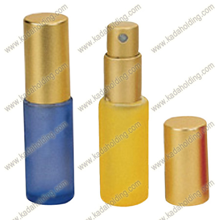 12ml frosted glass perfume bottle with aluminium spray and cap