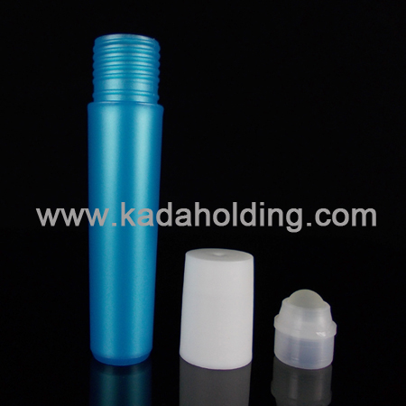 Y shaped perfume roll on bottle in blue color