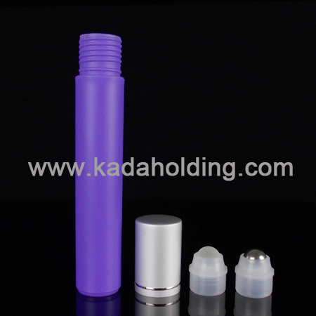 15ml frosted roll on bottle with aluminum cap