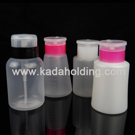 Various nail polish remover bottle with nail pump