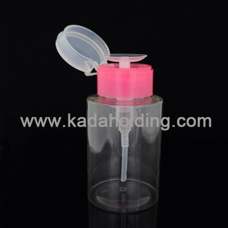 200ml PET plastic remover bottle,nail pump bottle