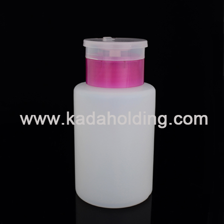 180ml PE plastic nail pump remover bottle dispenser